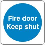 Mandatory Safety Sign - Fire Door Keep Shut 054